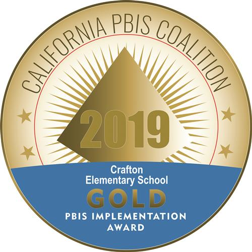 PBIS Gold medal badge