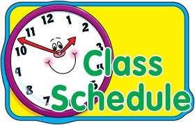 CLICK FOR DISTANCE LEARNING CLASS SCHEDULES