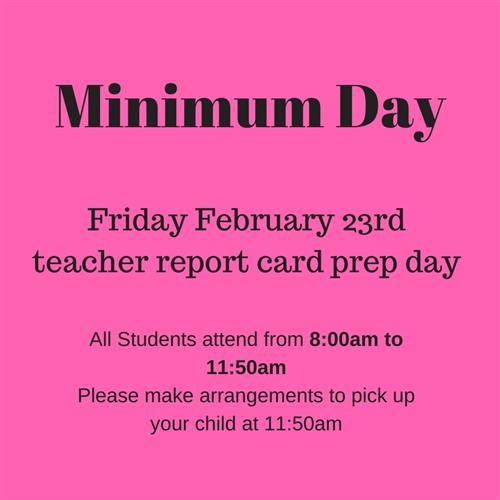 pink background color with minimum day notice for 2-23-18