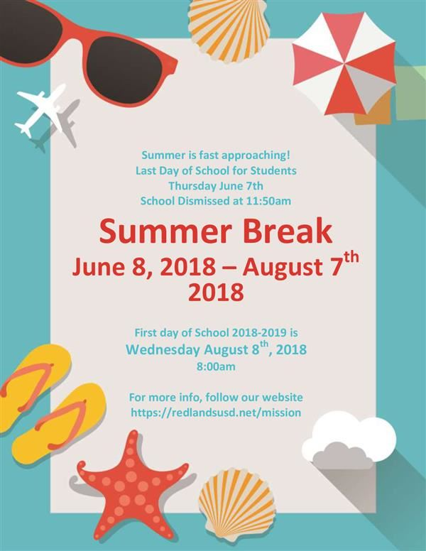 Summer Break 2018