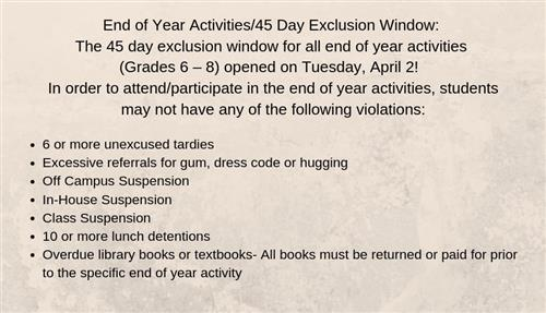 Exclusion Window