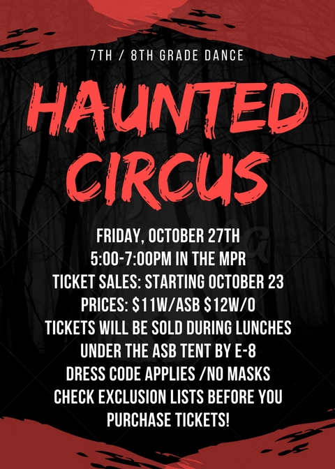 Haunted Circus Flyer