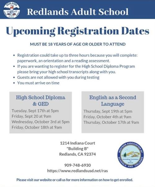 High School Diploma, GED & ESL Classes