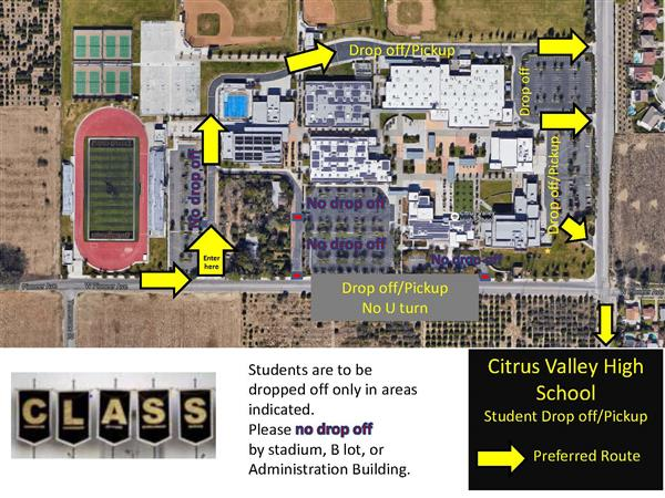 Student Drop Off/Pick Up Map