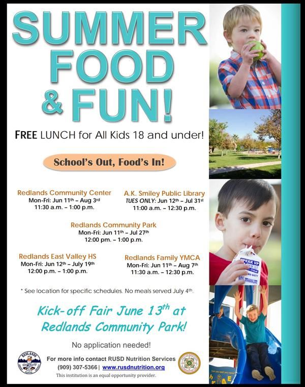 RUSD Summer Food and Fun - Kids Eat Free All Summer!