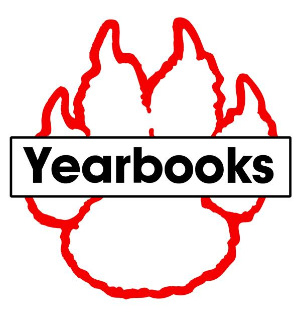 Cat's paw with text: Yearbook