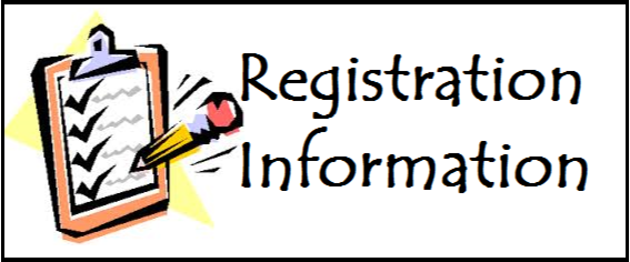 clip board and pencil with text: Registration Information