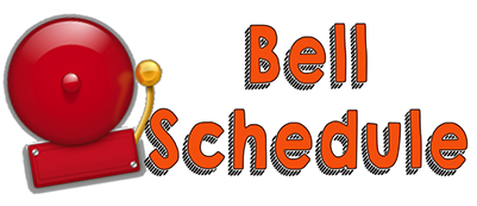 Alarm bell with text bell schedule