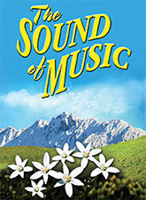 Poster text: sound of music, flowers and mountains