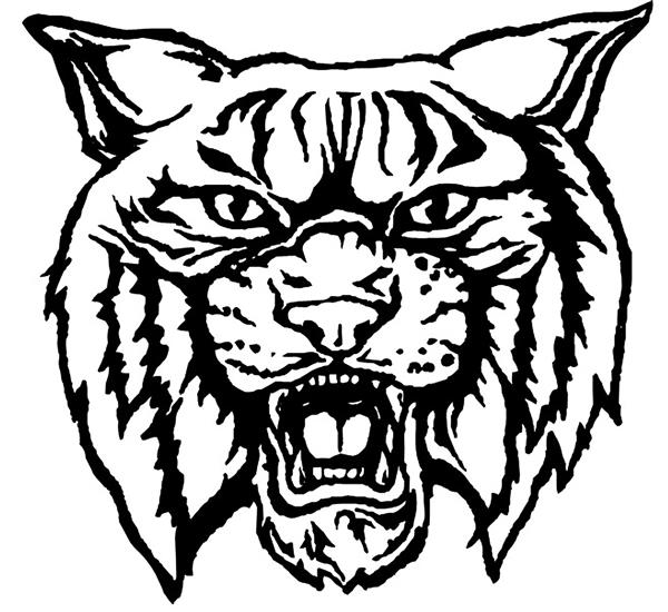 Wildcat Logo in black and white