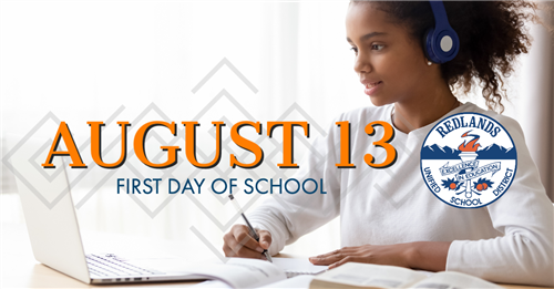 First Day of School August 13