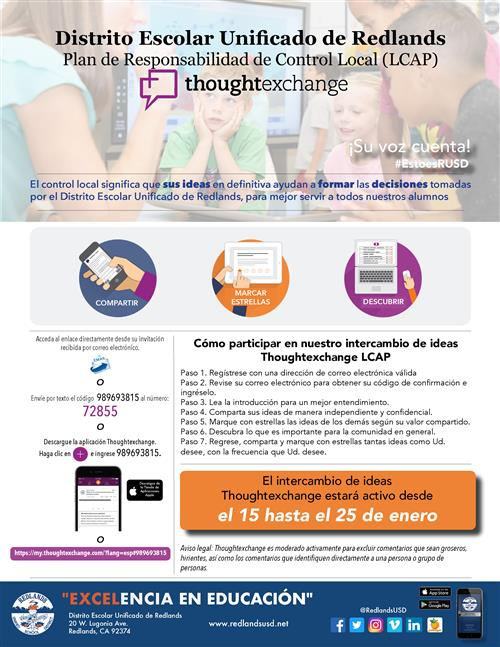Thought Exchange Spanish Flyer