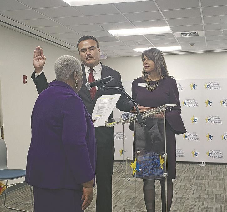 Ted Alejandre is sworn in as county superintendent
