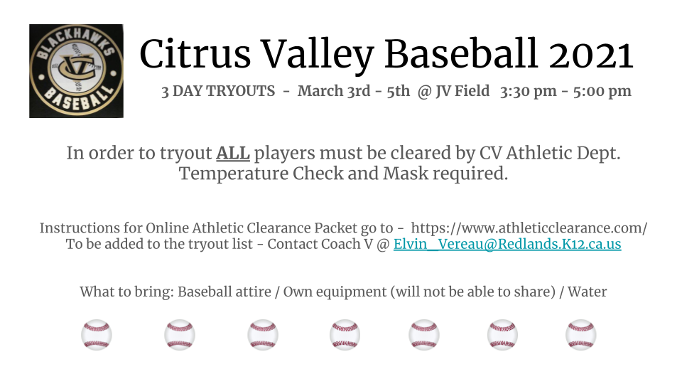 Baseball Tryouts