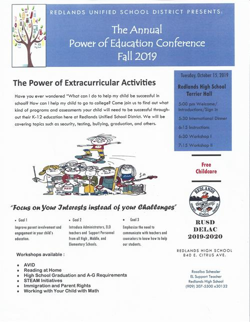 flyer with 10-15-19 conference information