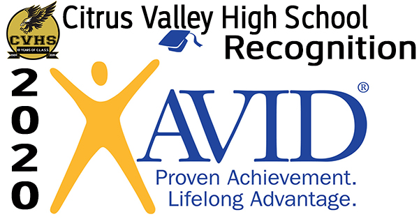 AVID Recognition - Citrus Valley High School Video