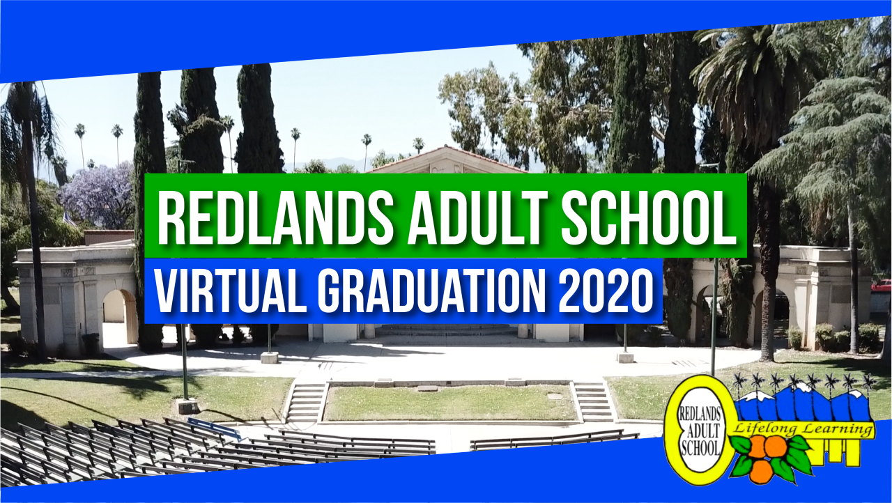 Redlands Adult School Virtual Graduation 2020 Logo