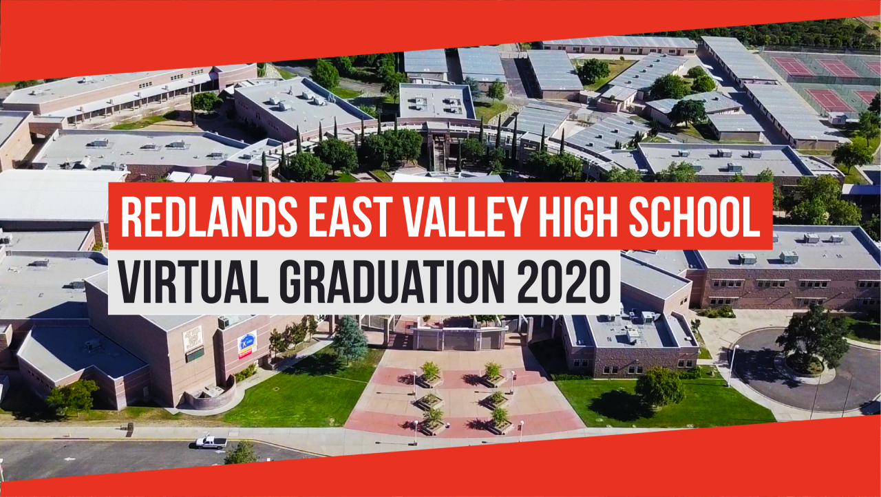 Redlands East Valley High School Virtual Graduation 2020 Logo