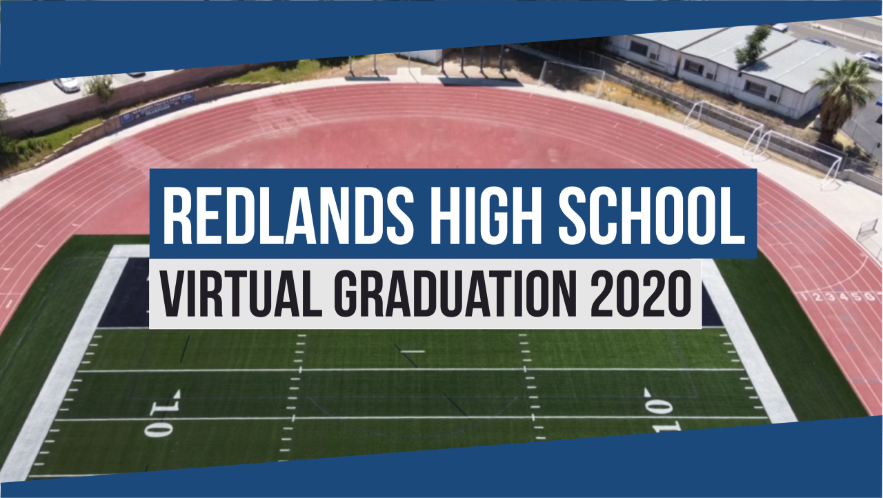 Redlands High School Virtual Graduation 2020 Logo