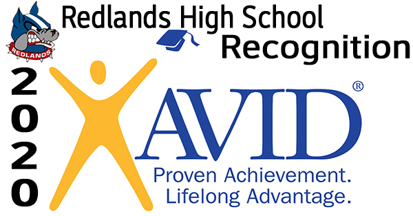 AVID Recognition - Redlands High School Video Logo