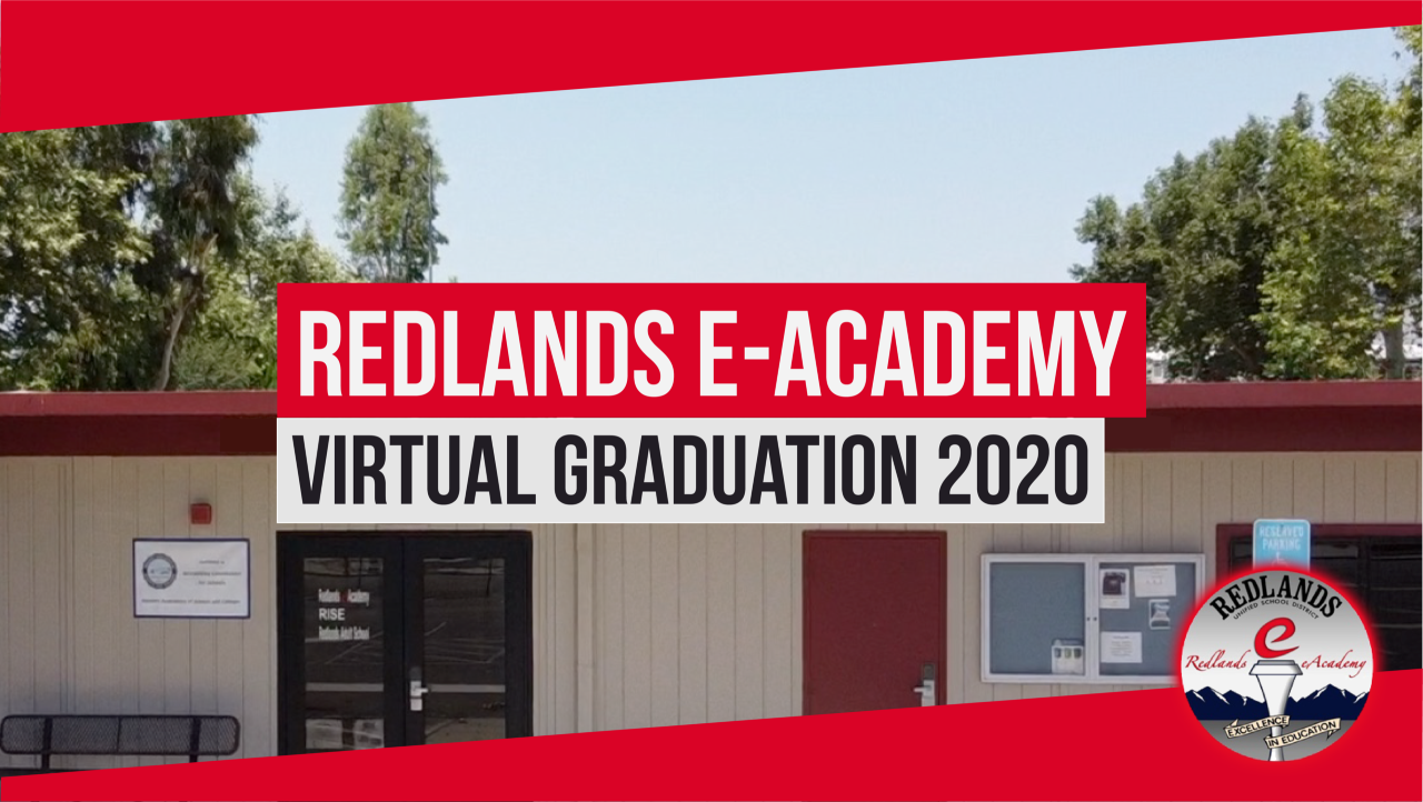 Redlands eAcademy Virtual Graduation 2020 Logo