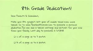 8th grade dedication flyer