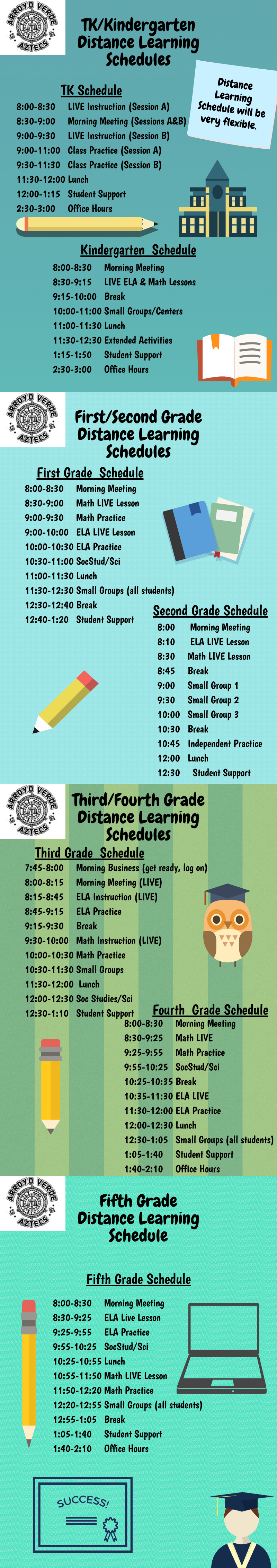 Distance Learning Schedules Available Now!